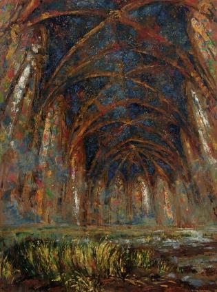 """Sainte Chapelle II"" Óleo, 200 X 140 cm."