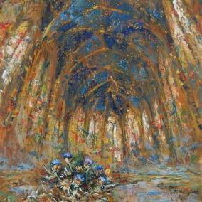"""Sainte Chapelle"" Óleo, 120 X 80 cm."