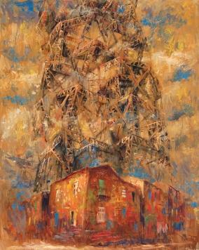 """""""Babel en La Boca"""" Óleo, 120 X 80 cm."""