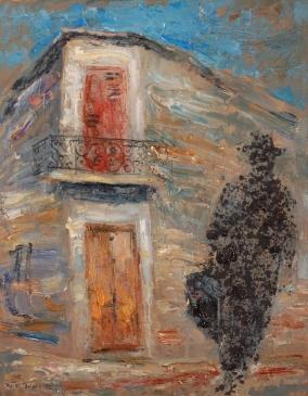 """""""La casa del que se fue"""" - Óleo, 50 X 40 cm."""