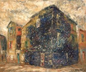 """""""La casa de las estrellas"""" Óleo, 50 X 60 cm."""