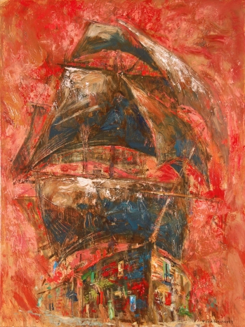 """La casa del navegante"" - Óleo, 80 X 60 cm."