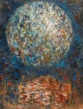 """Luna de arrabal"" Óleo, 130 X 90 cm."