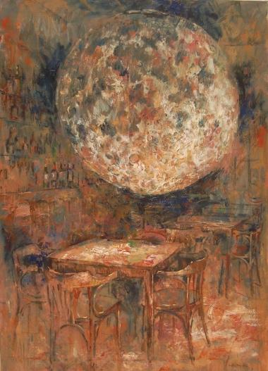 """""""La mesa de los líricos"""" - Òleo, 140 X 100 cmts."""