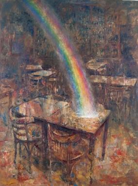 la mesa de los pintores